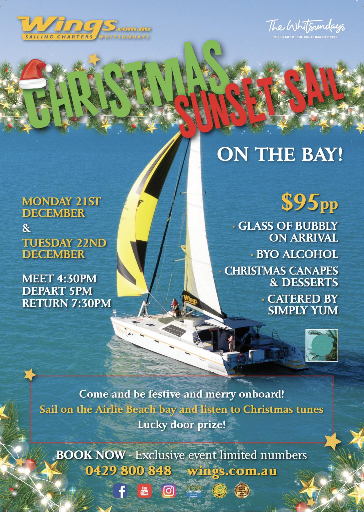 Christmas Sunset Sail On The Bay