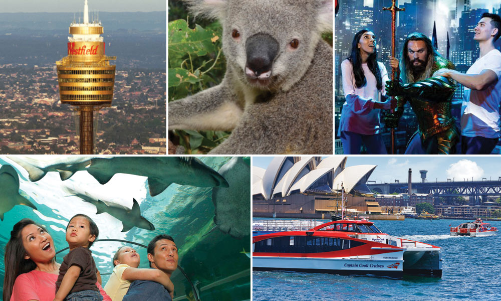 Sydney 4 Attraction Pass and 2 Day Sydney Harbour Ferry Pass
