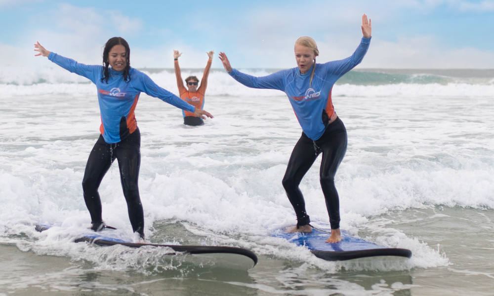 Private Family Surf Lesson at Main Beach