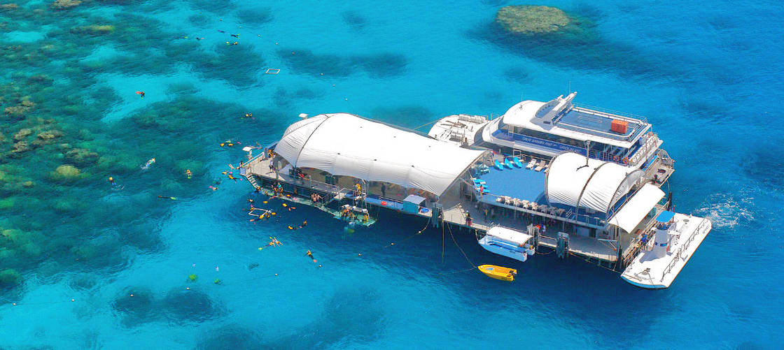 Great Barrier Reef Cruise to Great Adventures Pontoon