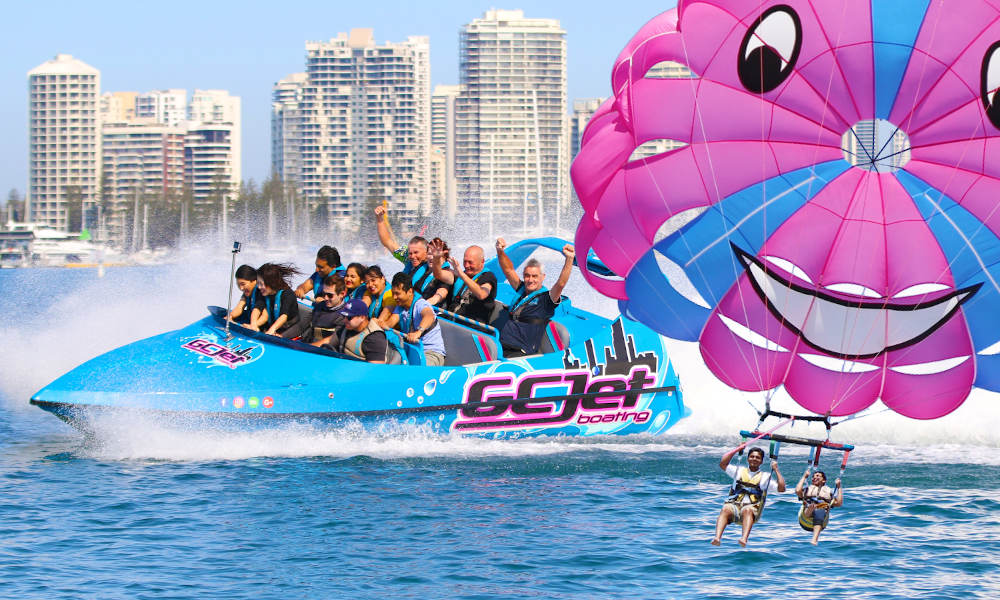 Gold Coast Tandem Parasail and Jet Boat Package