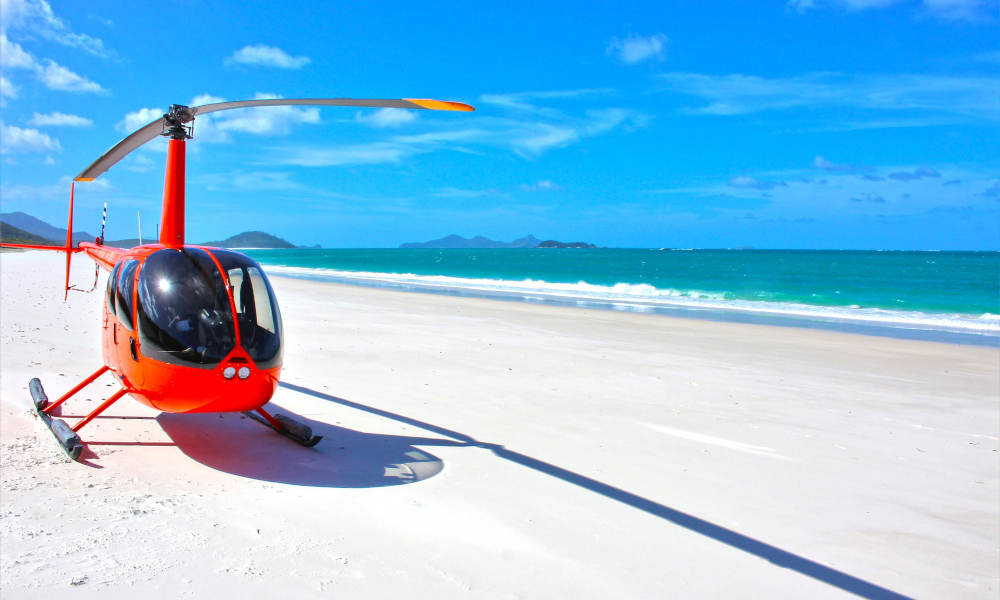 2 Hour Whitehaven Beach Helicopter Flight