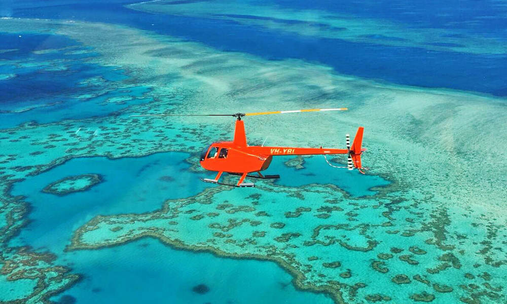 2.5 Hour Reef with Whitehaven Landing Helicopter Flight