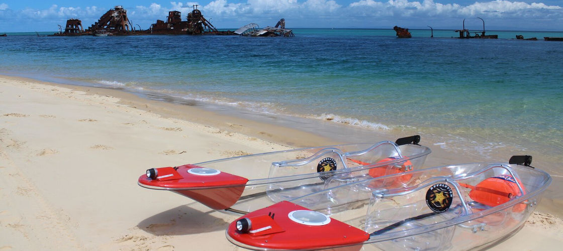 Brisbane to Moreton Island Day Tour (with water activities)