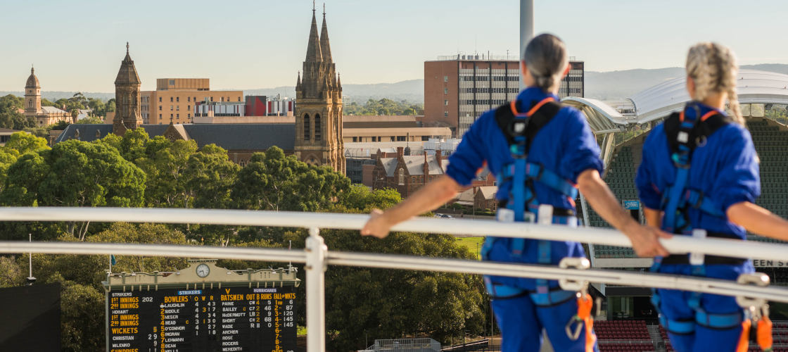 Adelaide Oval Night Roof Climb