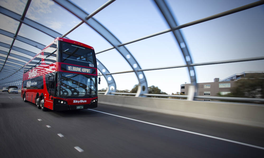 SkyBus Tullamarine Airport to Southbank or Docklands