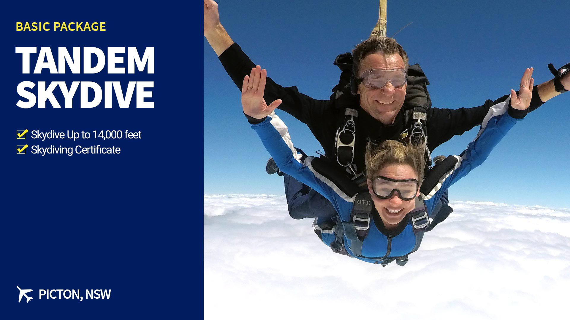 Tandem Skydive up to 14,000ft