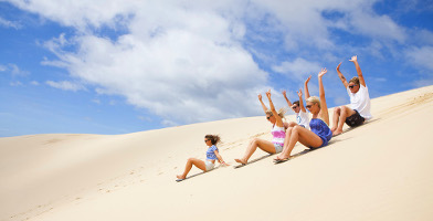 Quad Bike Aboriginal Culture and Sand Boarding Tour