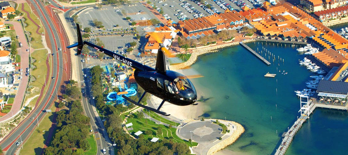 Scenic Helicopter Flight over Perth City