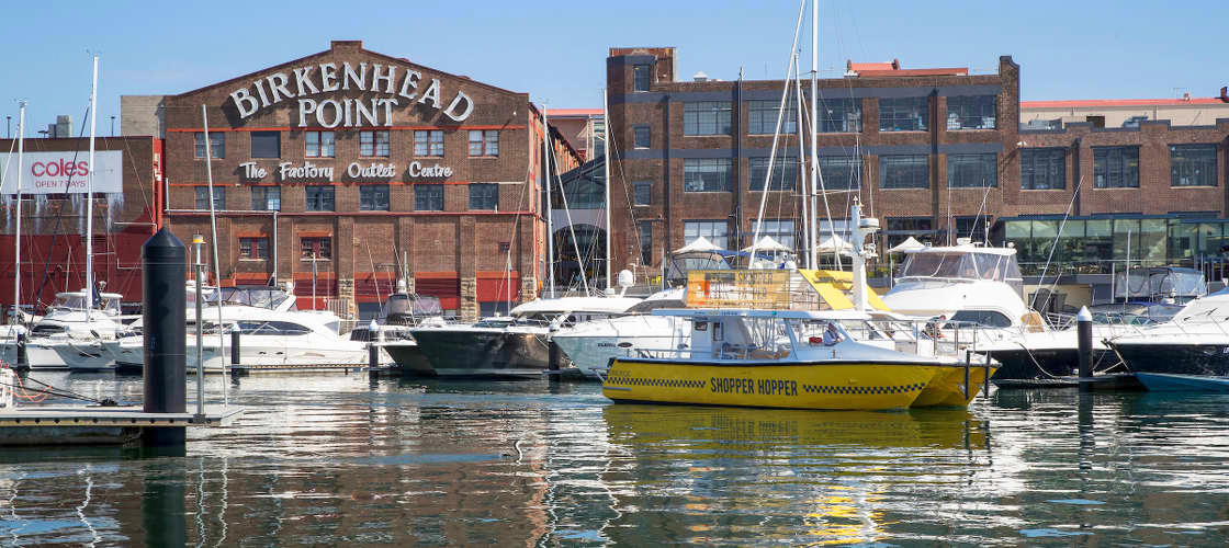 Return Ferry Transfers to Birkenhead Point Outlet Centre