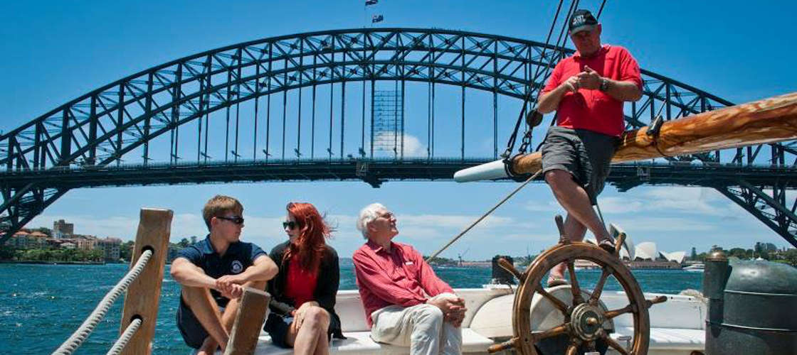 Sydney Harbour Wine and Canapes Tall Ship Cruise