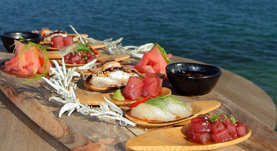Swim with the Tuna Experience and Seafood Tasting Platter
