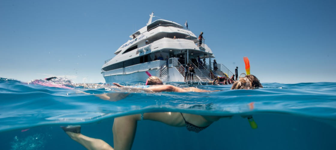 Great Barrier Reef Dive and Snorkel Cruise to 2 Reef Locations