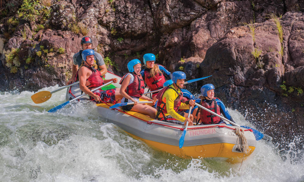 Tully River Full Day White Water Rafting Adventure with Dinner