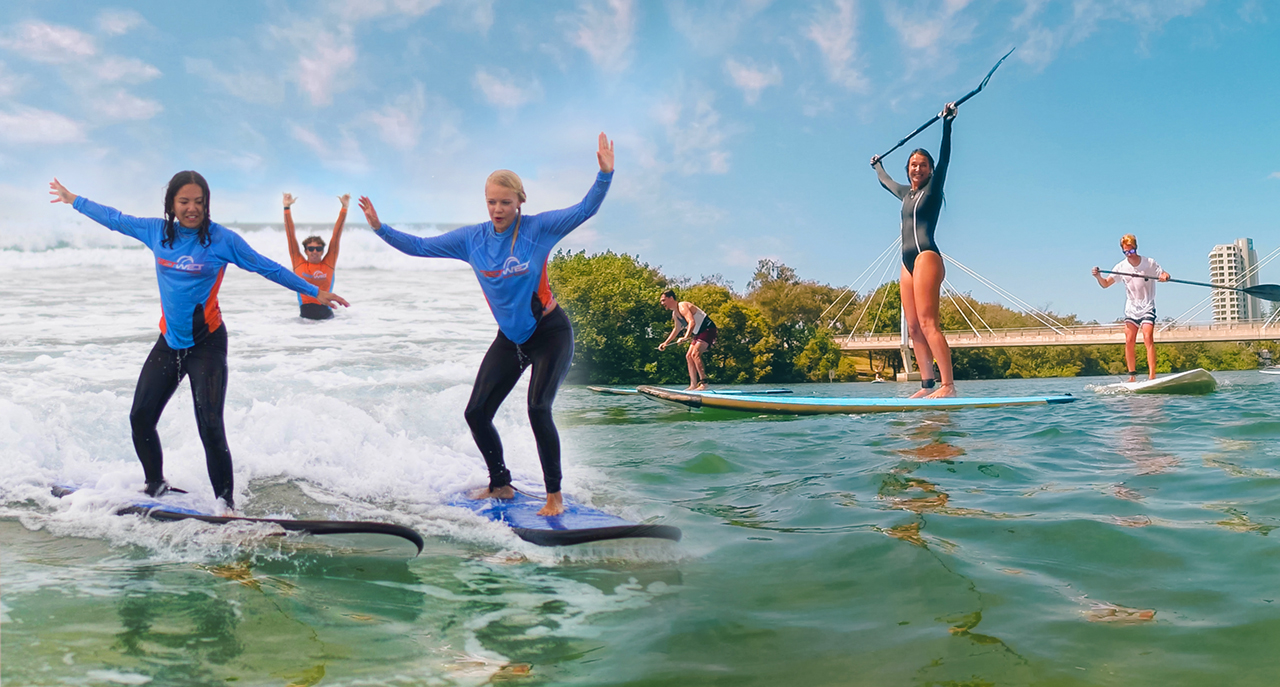 Stand Up Paddle Tour & Surf Lesson – Combo