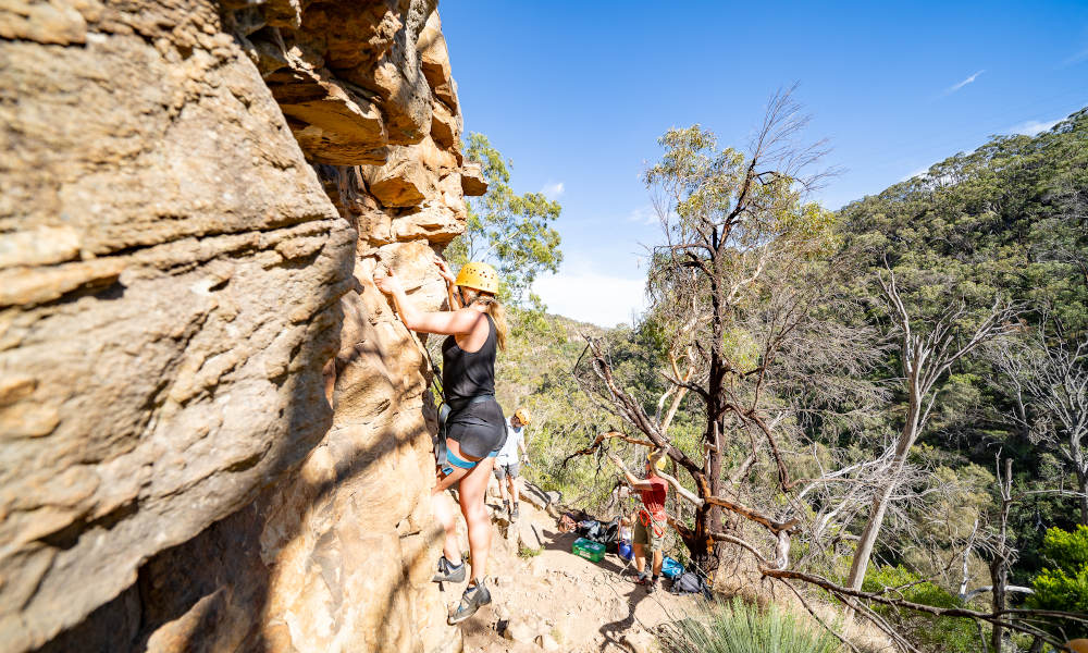 Rock Climb And Abseil At Morialta